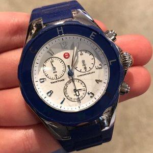 Blue gel Michele watch